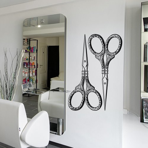 Decal Vinyl Sticker Decals Art Decor Design Hair Salon Scissors