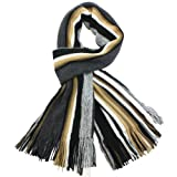Dahlia Mens 100% Fine Acrylic Colorful Striped Knit Long Scarf