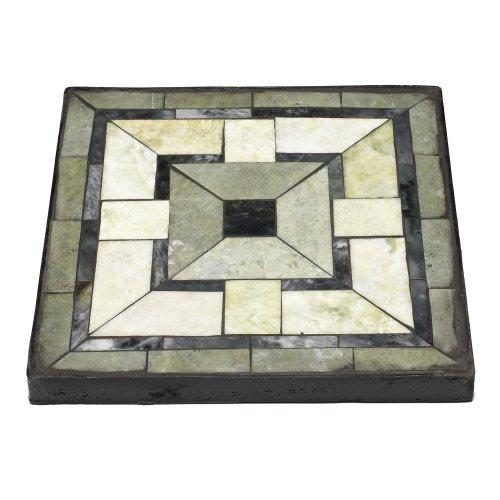 Mini Brick Anchor Gray Pearl Shell Tile Sheet Tile Sample - 1 inch square ceramic tiles