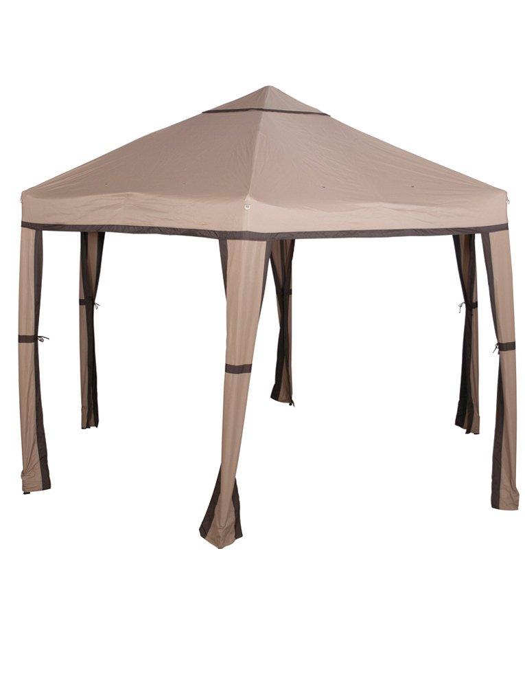 Siena Garden 759462 Pavillon Toledo, Stahlgestell mocca, Dach Polyester cappuccino, 180 x 180 x 180 cm günstig bestellen