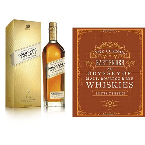discount duty free Bundle: Johnnie Walker Gold Label Reserve Blended Scotch Whisky 70cl and The Curious Bartender: An Odyssey of Malt, Bourbon & Rye Whiskies