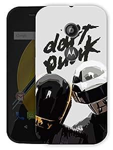 "Daft Punk Love Printed Designer Mobile Back Cover For ""Motorola Moto E2"" By Humor Gang (3D, Matte Finish, Premium Quality, Protective Snap On Slim Hard Phone Case, Multi Color)"