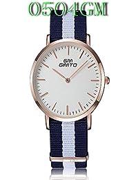 ISweven 2016 New Canvas Belt Fashion Simple Quartz Watches Analogue Multi-Colour Unisex Wrist Watch W1055a