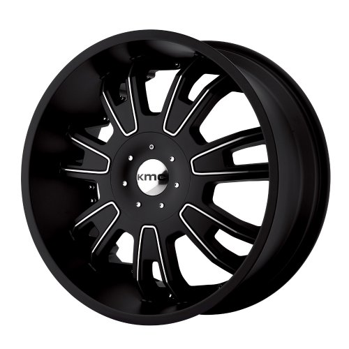 "Kmx Wheels Shilo Km6647 Matte Black Finish Wheel With Machined Accents (22X9.5""/5X115Mm)"