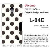 docomo Optimus G Pro L-04E ケース Optimus G Pro L-04E カバー ケース・ジャケット【白バック・大きいドット 黒/l04e-M625W】