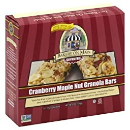 Bakery On Main Cranberry Maple Nut Granola Bar Gluten Free, 5 Count, 6 Oz (Pack of 3)