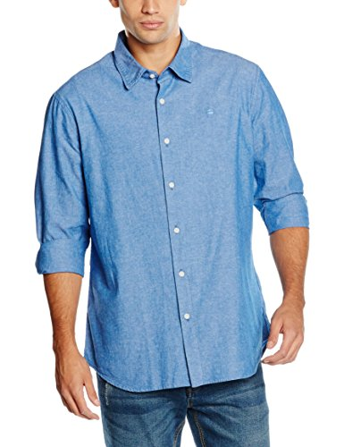 G-STAR RAW Core Shirt Long Sleeve, Camicia Uomo, Multicolore (Imperial Blue/White 8029), XX-Large