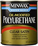 Minwax 63025 Minwax Water Based Satin Polyurethane, 1 Quart