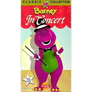 Price Down Barney In Concert VHS Barney Goes To School - Barney concert vhs