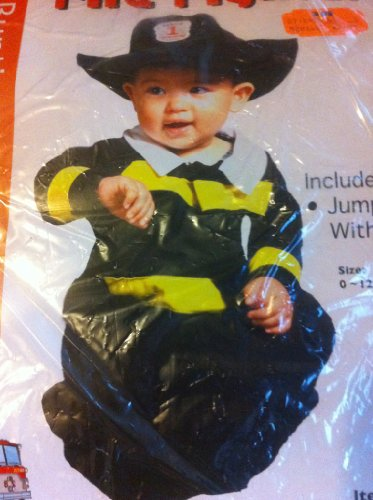 Fire Fighter Bunting Halloween Costume size 0-12 months