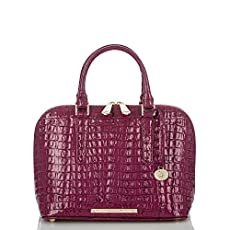 Vivian Dome Satchel<br>Boysenberry La Scala