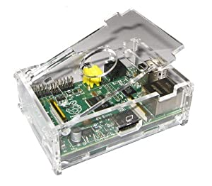Clear Transparent Case Box Enclosure for Raspberry Pi Computer by Hostey