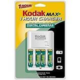 Kodak Max K6000C+4 1 Hour Charger with 4 AA Ni-MH Kodak Max Rechargeable Digital Camera Batteries ~ Kodak