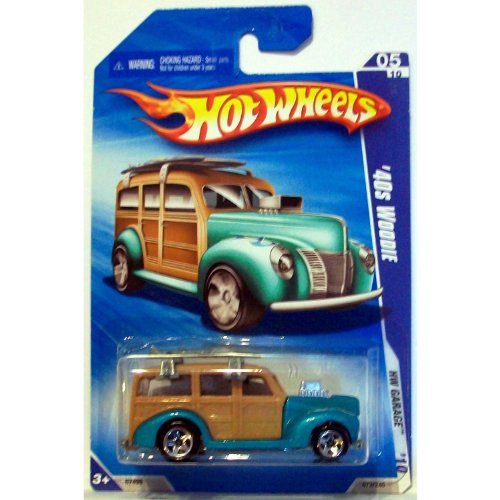 2010 Hot Wheels '40s Woodie Teal/Tan 1:64 - 1
