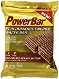 PowerBar Performance Energy Wafer Cookie, Chocolate Peanut Butter, 1.41 Ounce (Pack of 12)