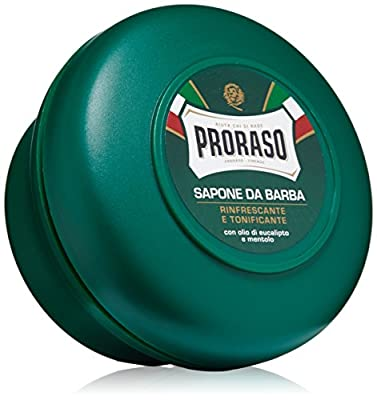Proraso Shaving Soap in a Bowl, Refreshing and Toning, 5.2 oz (150 ml)