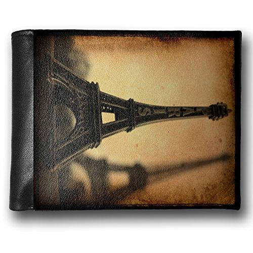 Wallet Paris Eiffel Tower Vintage, Rfid Men'S Bifold Id Case - Neonblond