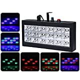 LightMe Color Changing 18 LED RGB Strobe Flash Light Stage Lighting Sound Activated for Party Club Disco Bar