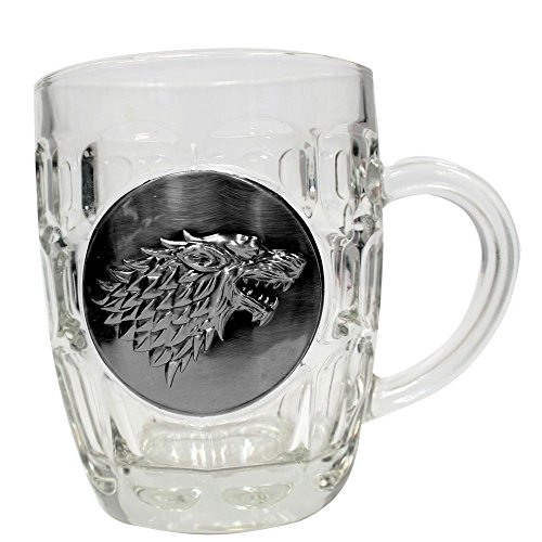 Game of Thrones Beer Glass Stark Metallic Logo SD Toys