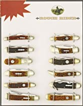 Rough Rider Knives SET3 12 Piece Amber Jigged Bone Set