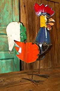 Large Rooster-Recycled Metal Animals
