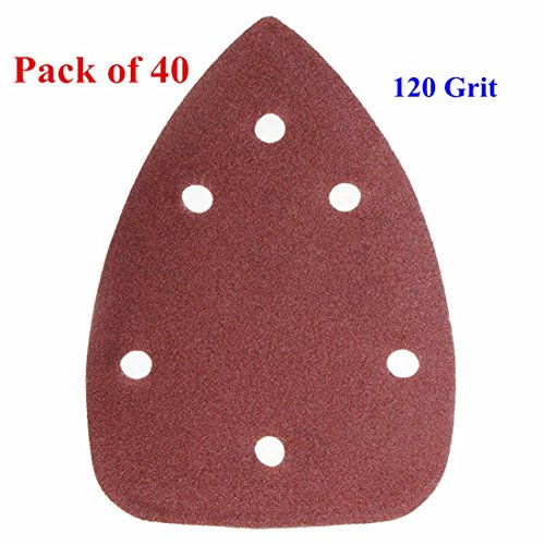 INSMA 40pcs 60-240 Grit Mouse Sanding Sheets for