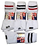 6 Pairs Mens Comfort Fit White Sports Socks Uk Size 6-11