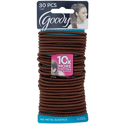 goody-ouchless-no-metal-elastics-chocolate-cake-30-count