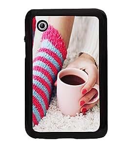 Morning Coffee 2D Hard Polycarbonate Designer Back Case Cover for Samsung Galaxy Tab 2 :: Samsung Galaxy Tab 2 P3100