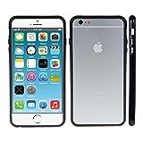 kwmobile TPU シリコンバンパー Apple iPhone 6 Plus / 6S Plus用 黒色 - スタイリッシュな360o携帯電話の保護