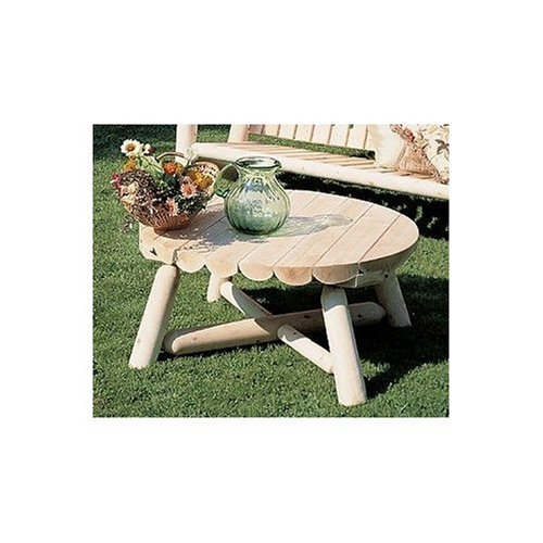 Rustic Natural Cedar Log Round Coffee Table - 36""