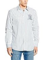 Galvanni Camisa Hombre Cottus (Blanco / Morado / Verde)