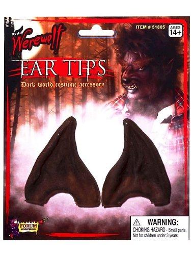 Forum Novelties 518X Brown Werewolf Ear Tips