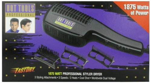 Hot Tools HT1099N Professional Styler Dryer, 1875 Watt (Hair Bean Detangling Brush compare prices)
