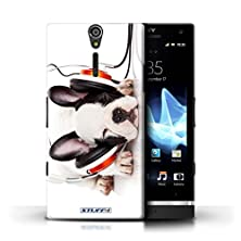 buy Stuff4 Phone Case / Cover For Sony Xperia S/Lt26I / Snooze Headphone Dog Design / Funny Animals Collection
