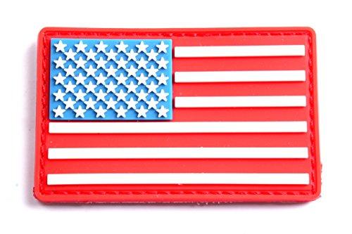5枚セット! ベルクロ付き PVC ワッペン パッチ 徽章 サバゲー  USA   L932