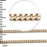 LIOR - 18ct Yellow Gold Chain - order by the Size - 18cm 1.3mm