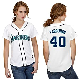 Danny Farquhar Seattle Mariners Home Ladies Replica Jersey by Majestic by Majestic