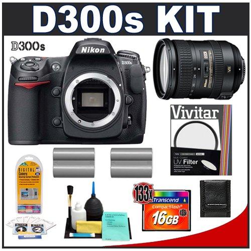 Nikon D300s Digital SLR Camera + 18-200mm VR [Vibration Reduction] II DX Lens + 16GB Card + (2x) EN-EL3e Battery Packs + UV Filter + Cameta Bonus Accessory Kit