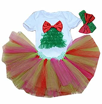 WINMI® Baby Girls' Newborn First Christmas Onesie Costume Party Tutu Dress 3PCS