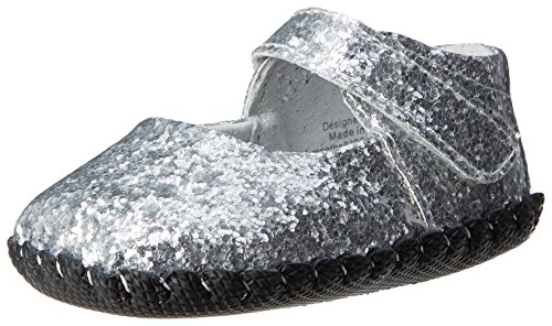 Pediped Originals Delaney Crib Shoe (Infant/Toddler),Silver,Medium (12-18 Months)