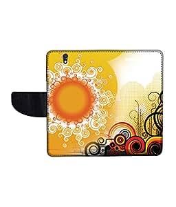 KolorEdge Printed Flip Cover For Sony Xperia Z Multicolor -(50KeMLogo12409XperiaZ)
