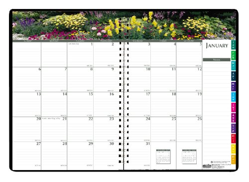 House of Doolittle Earthscapes Gardens of the World Monthly Planner, 12 Months, January 2012 to December 2012, 7 x 10 Inches, Recycled, BlackMulti (HOD264632)