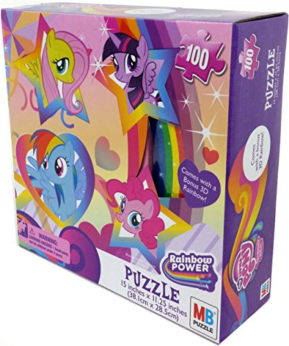 My Little Pony Puzzle with Rainbow (100-Piece)