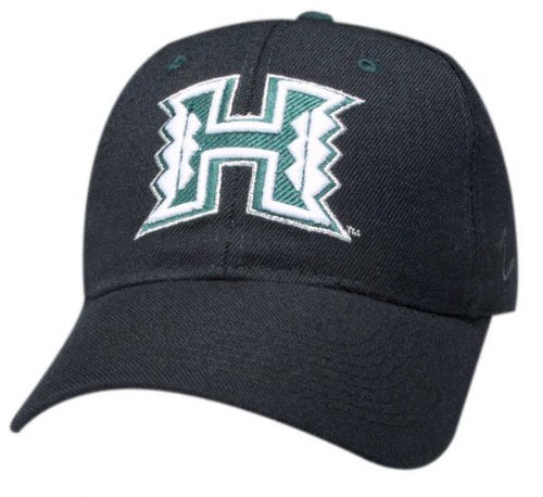 Hawaii Warriors 'H' Black DH Hat