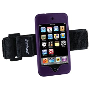 Tuneband, Grantwood Technology's Armband, Silicone Skin, and Screen Protector for iPod Touch 8GB/16GB/32GB/64GB 2nd and 3rd Generation- Purple