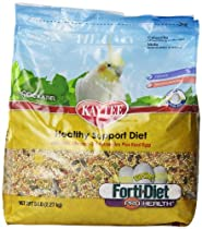 Kaytee Forti Diet Egg-Cite Bird Food for Cockatiels, 5-Pound Bag