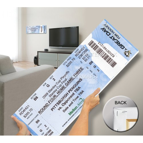 2009 Stanley Cup Mega Ticket - Pittsburgh Penguins-By BlueTECH