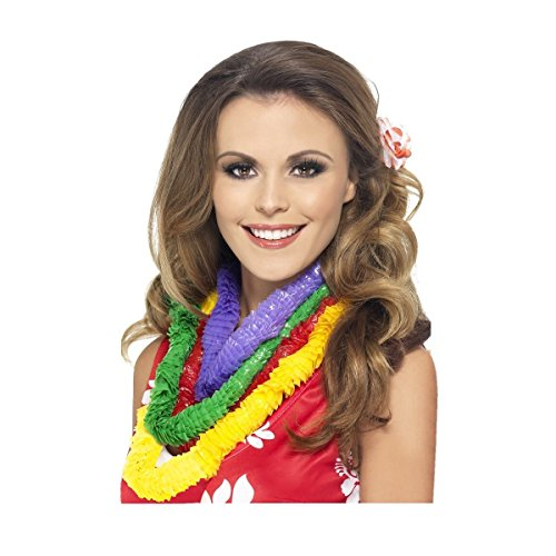 [GSG Hawaiian Party Leis 4-Pack Parrot Head Gear Costume Accessory] (Parrot Costume Female)