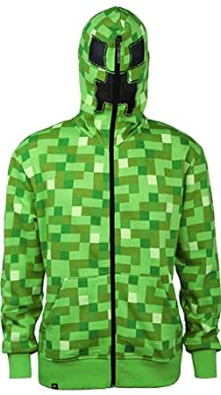Minecraft Creeper Premium Zip-up Youth Hoodie (Youth X-Small)